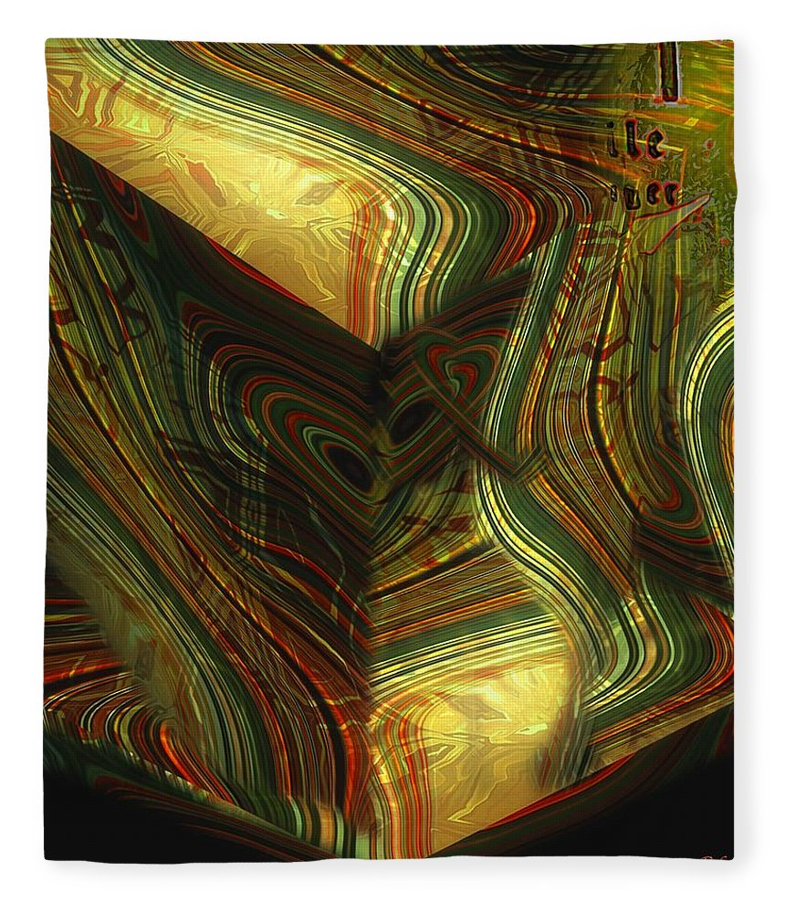 Abstract Fleece Blanket featuring the painting I Have Set Aside A Block Of Time by RC DeWinter