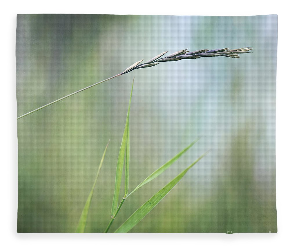 Spike Fleece Blanket featuring the photograph I Will Hold You by Priska Wettstein