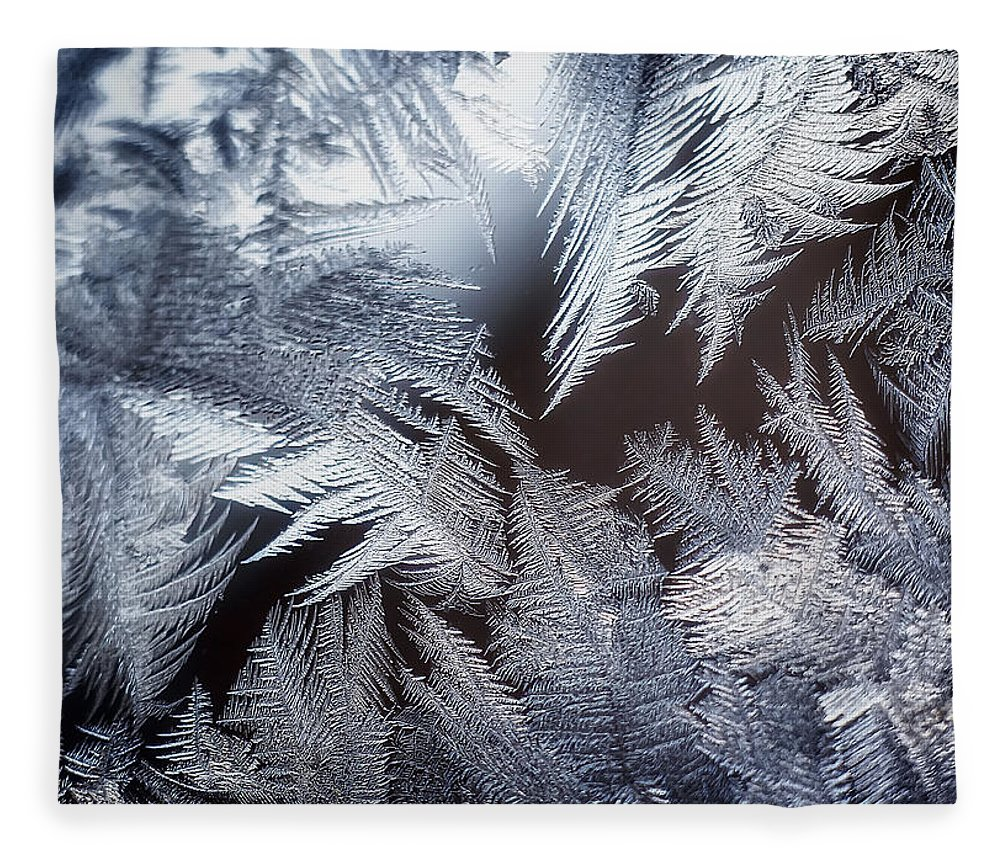 Ice Fleece Blanket featuring the photograph Ice Crystals by Scott Norris