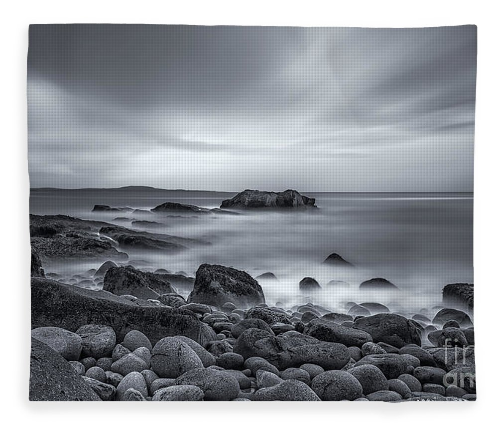 Acadia Fleece Blanket featuring the photograph In A Tidal Wave Of Mystery by Evelina Kremsdorf