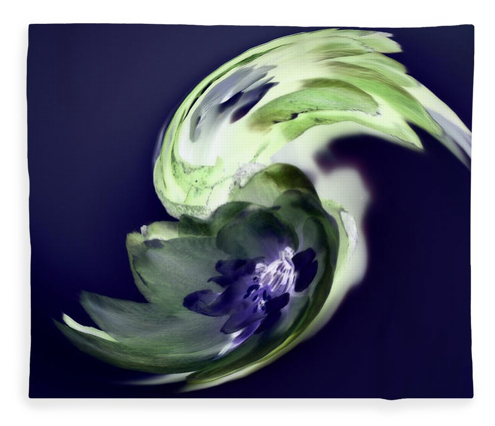 Abstract Phototgraphy Fleece Blanket featuring the photograph Incana abstract 1 by Paulina Roybal