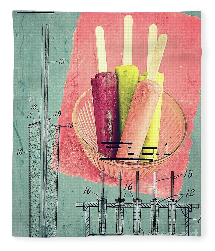 Popsicle Fleece Blanket featuring the photograph Invention Of The Ice Pop by Edward Fielding