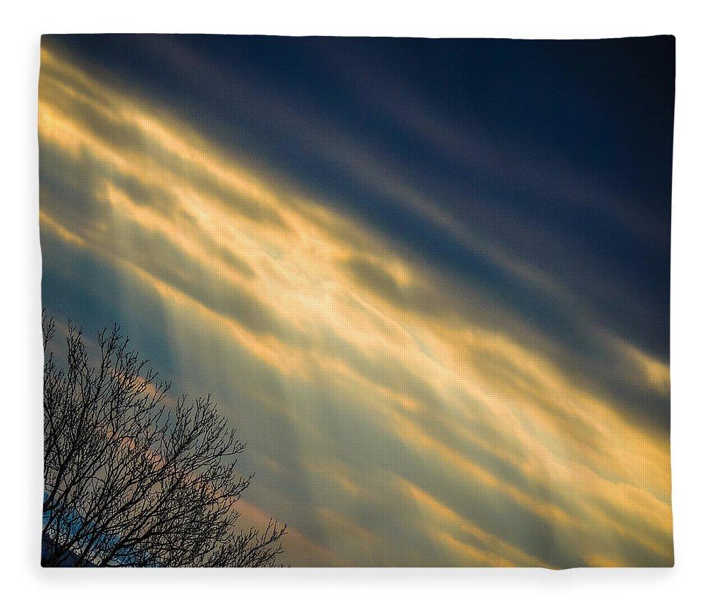 Abstract Fleece Blanket featuring the photograph Irish Sunbeams by James Truett