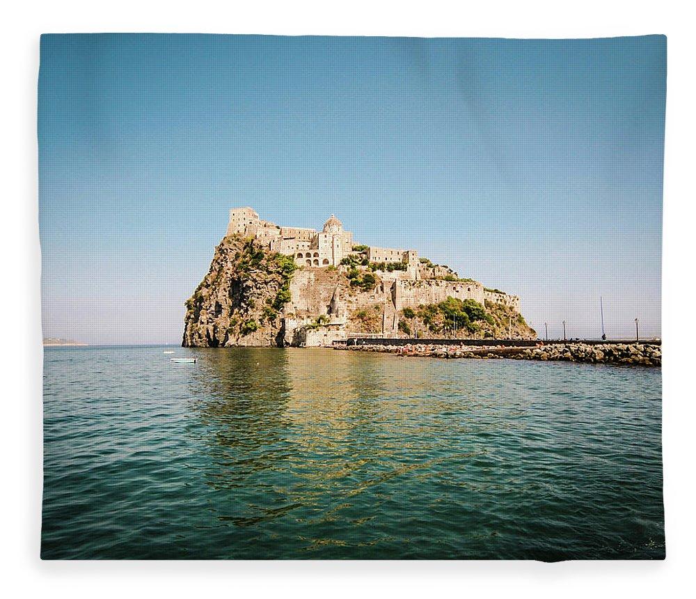 Tyrrhenian Sea Fleece Blanket featuring the photograph Ischia Island Castle by Angelafoto