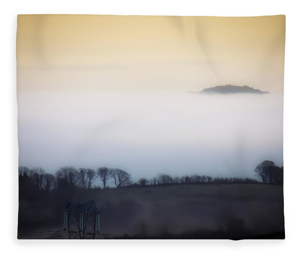 Ireland Fleece Blanket featuring the photograph Island In The Irish Mist by James Truett