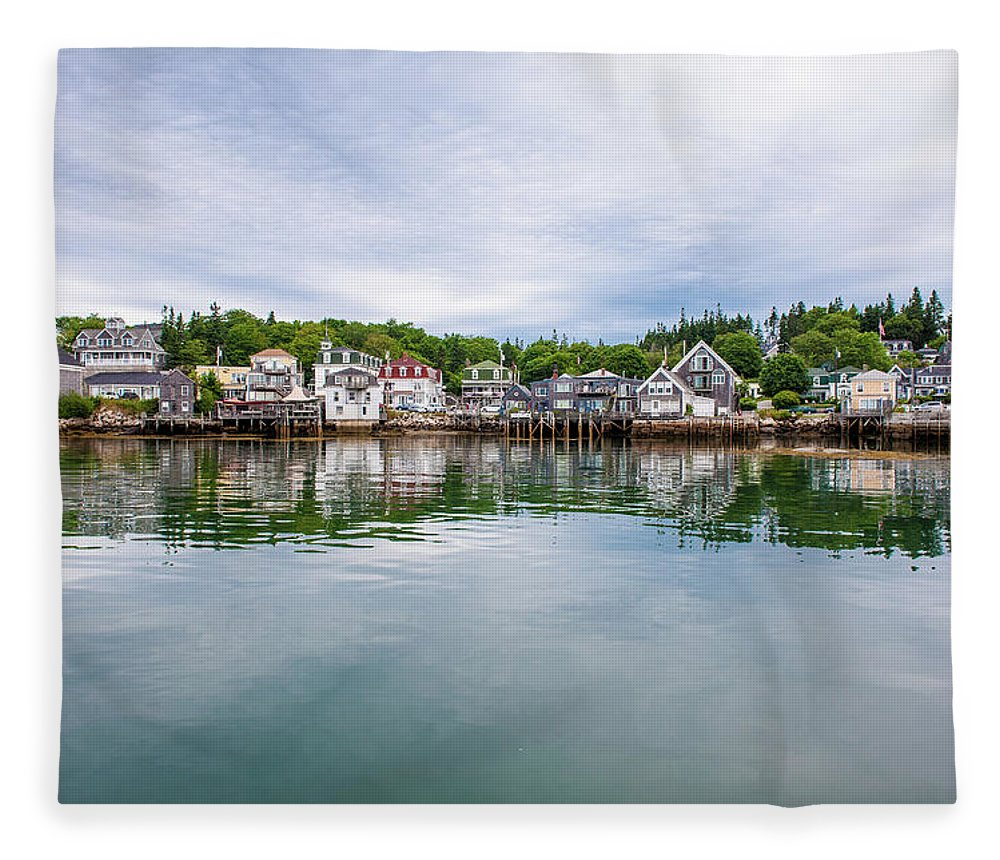 Town Fleece Blanket featuring the photograph Island Village by Edwin Remsberg