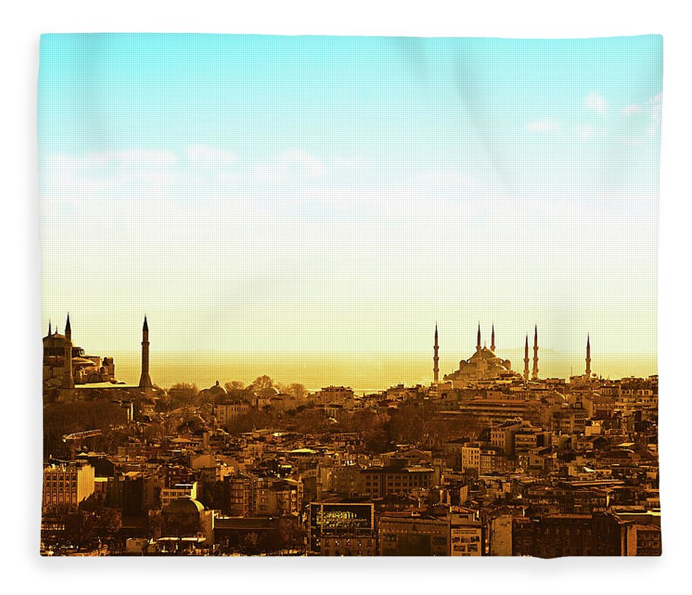 Tranquility Fleece Blanket featuring the photograph Istanbul by Dhmig Photography