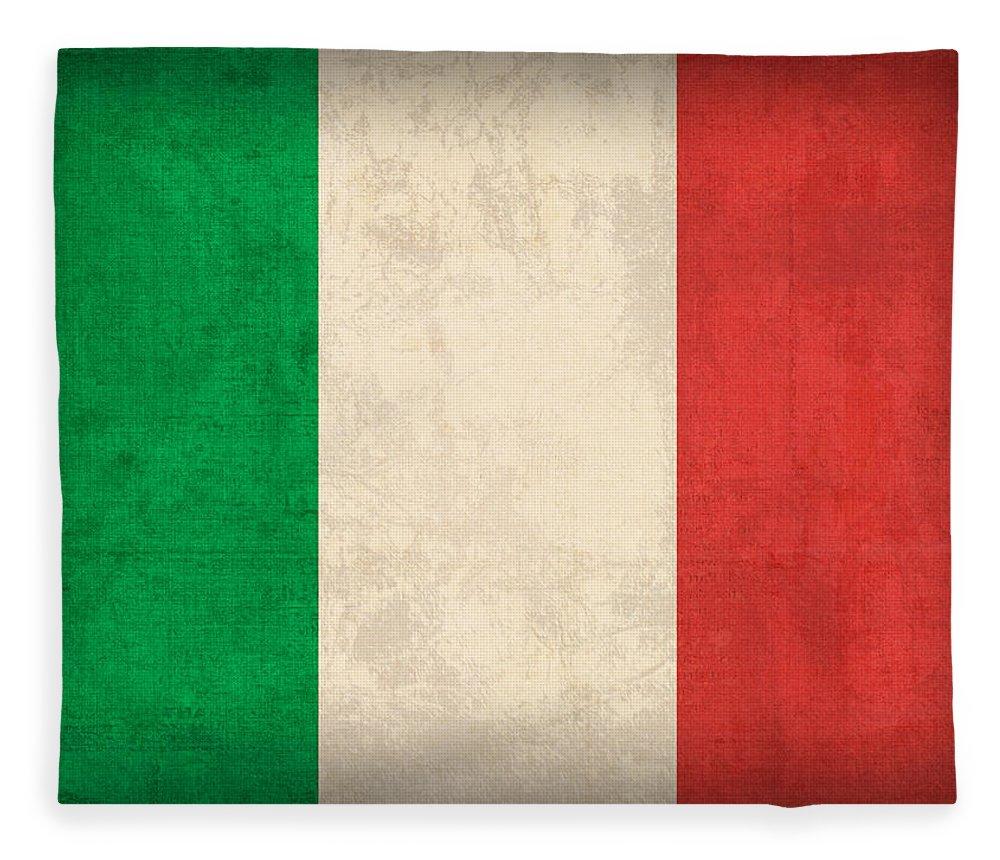 Italy Flag Vintage Distressed Finish Rome Italian Europe Venice Fleece Blanket featuring the mixed media Italy Flag Vintage Distressed Finish by Design Turnpike