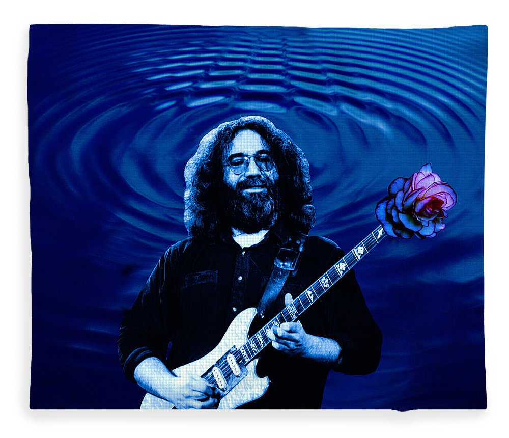 Grateful Dead Fleece Blanket featuring the photograph Blue Ripple Rose by Ben Upham
