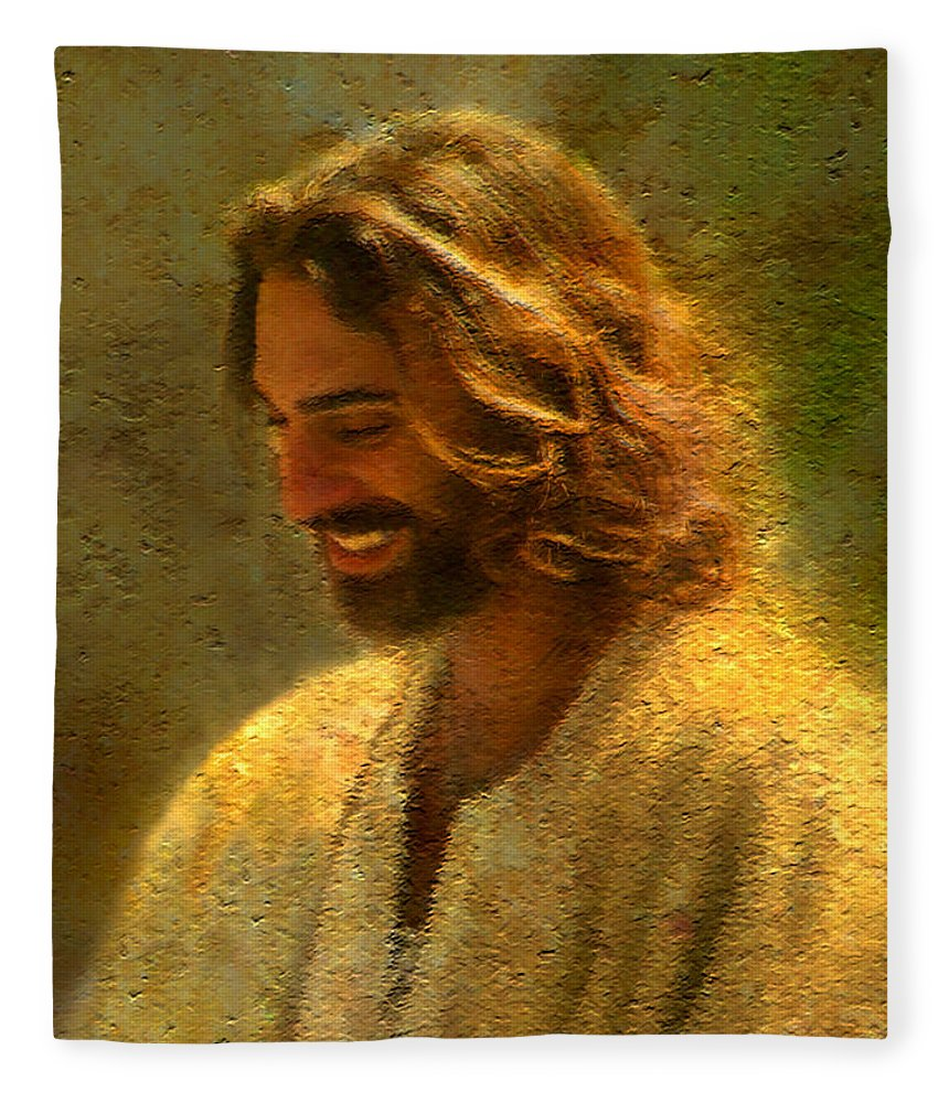 Jesus Fleece Blanket featuring the painting Joy of the Lord by Greg Olsen