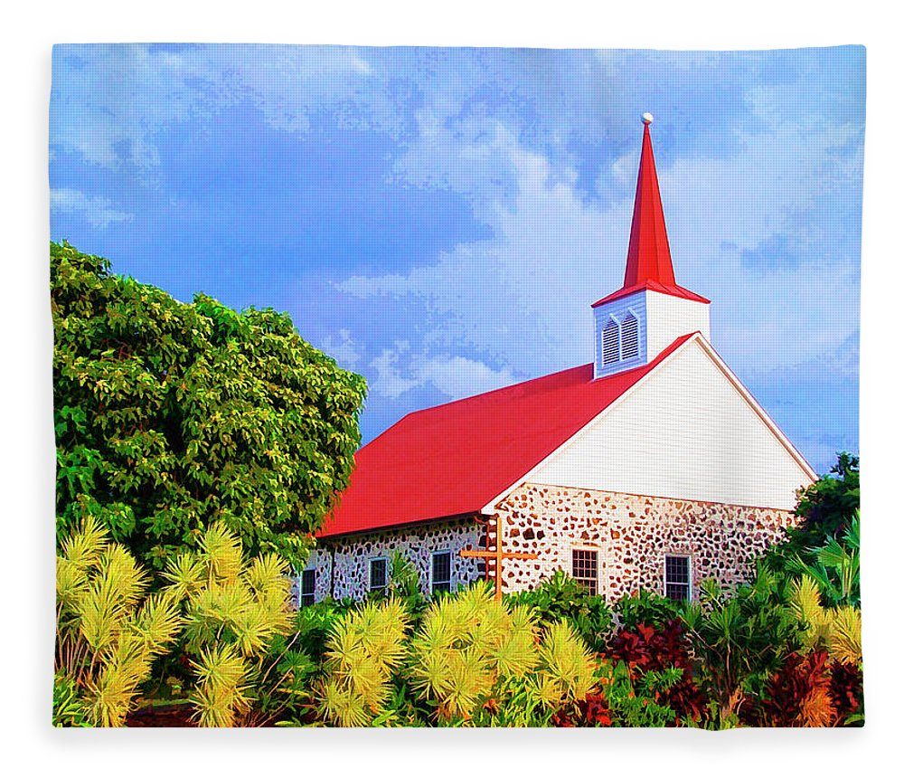 Kahikolu Congregational Fleece Blanket featuring the mixed media Kahikolu Congregational by Dominic Piperata