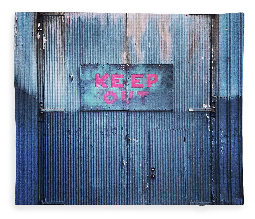 Tranquility Fleece Blanket featuring the photograph Keep Out by Hal Bergman Photography