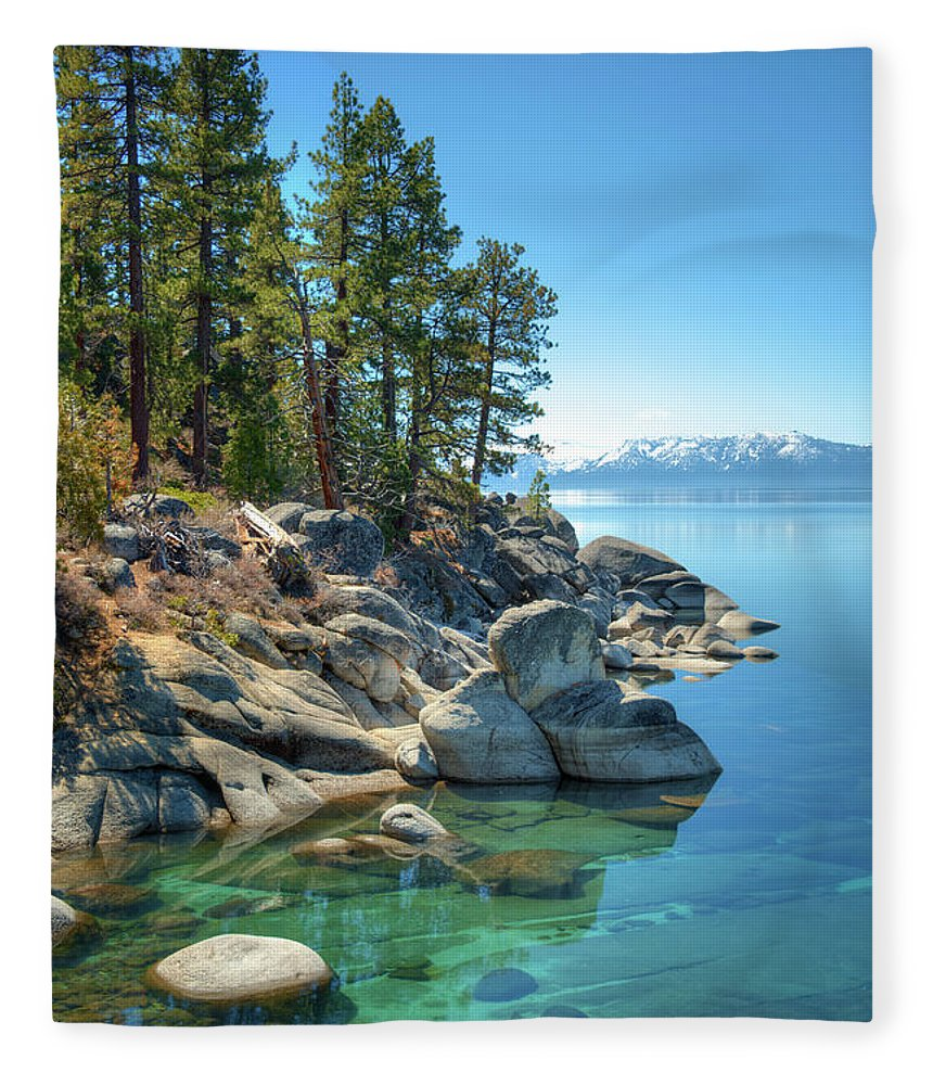 Scenics Fleece Blanket featuring the photograph Lake Tahoe, The Rugged North Shore by Ed Freeman