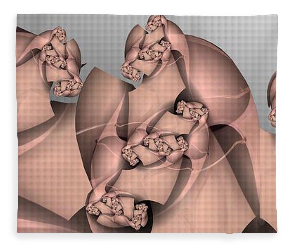 Lizard Fleece Blanket featuring the digital art Leapin Lizards by Ron Bissett