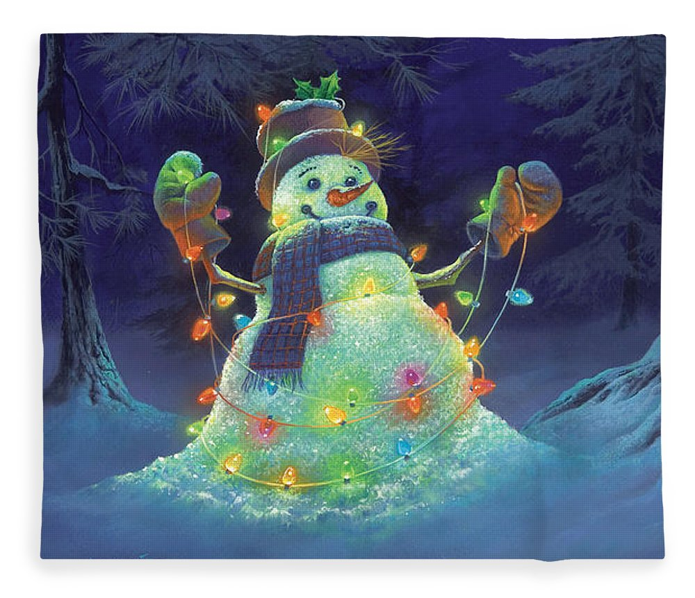 Michael Humphries Fleece Blanket featuring the painting Let It Glow by Michael Humphries