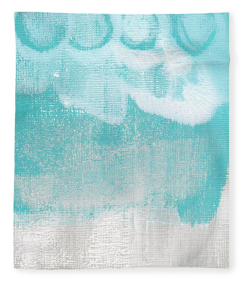 Abstract Fleece Blanket featuring the painting Like A Prayer- Abstract Painting by Linda Woods