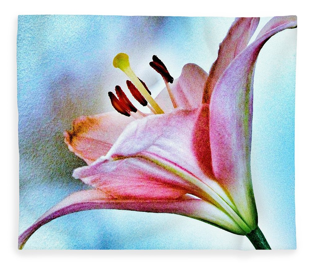 Lily Fleece Blanket featuring the photograph Lily by Marianna Mills