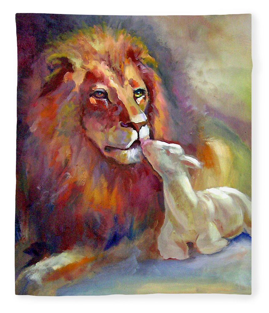 Lion Of Judah Lamb Of God Fleece Blanket For Sale By Judy