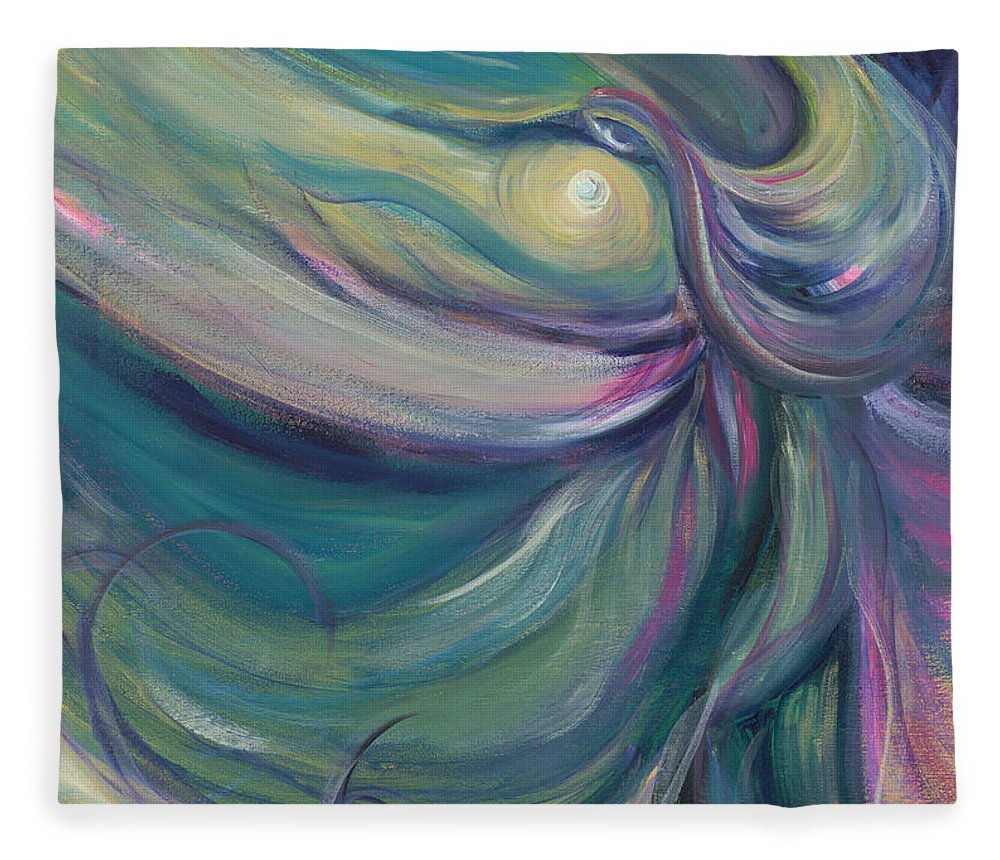 Dance Fleece Blanket featuring the painting Liturgical Dance by Nadine Rippelmeyer