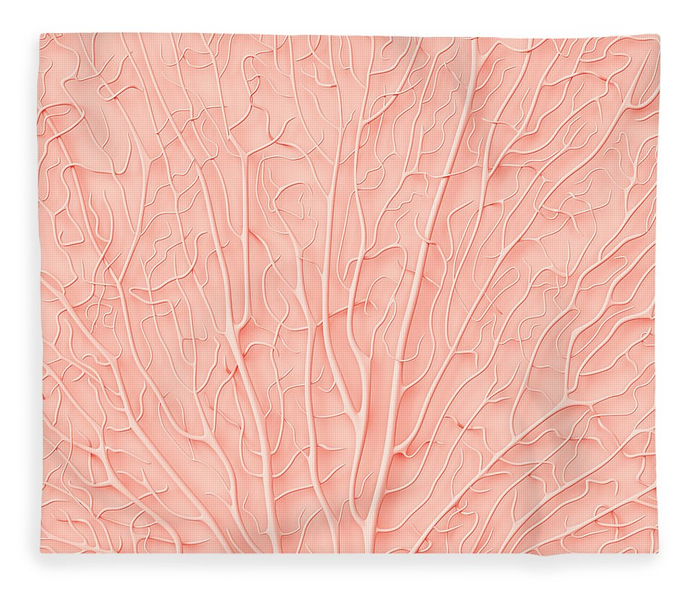 Empty Fleece Blanket featuring the photograph Living Coral Color Of The Year 2019 by Artjafara