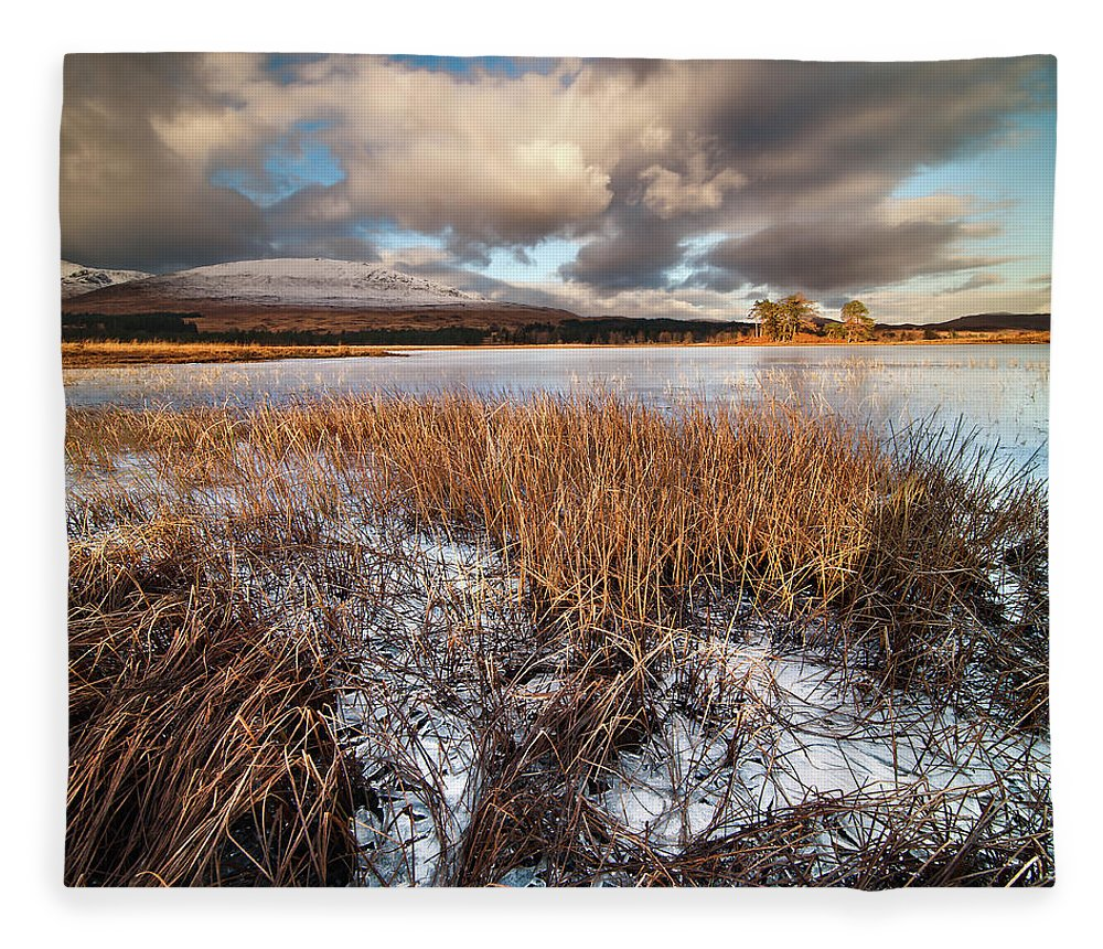 Tranquility Fleece Blanket featuring the photograph Loch Tulla by Image By Peter Ribbeck
