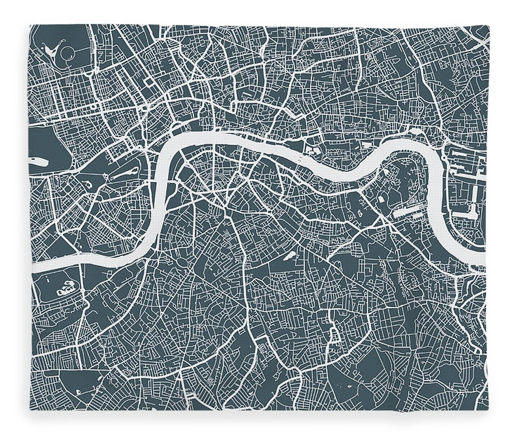 Art Fleece Blanket featuring the digital art London City Map by Mattjeacock