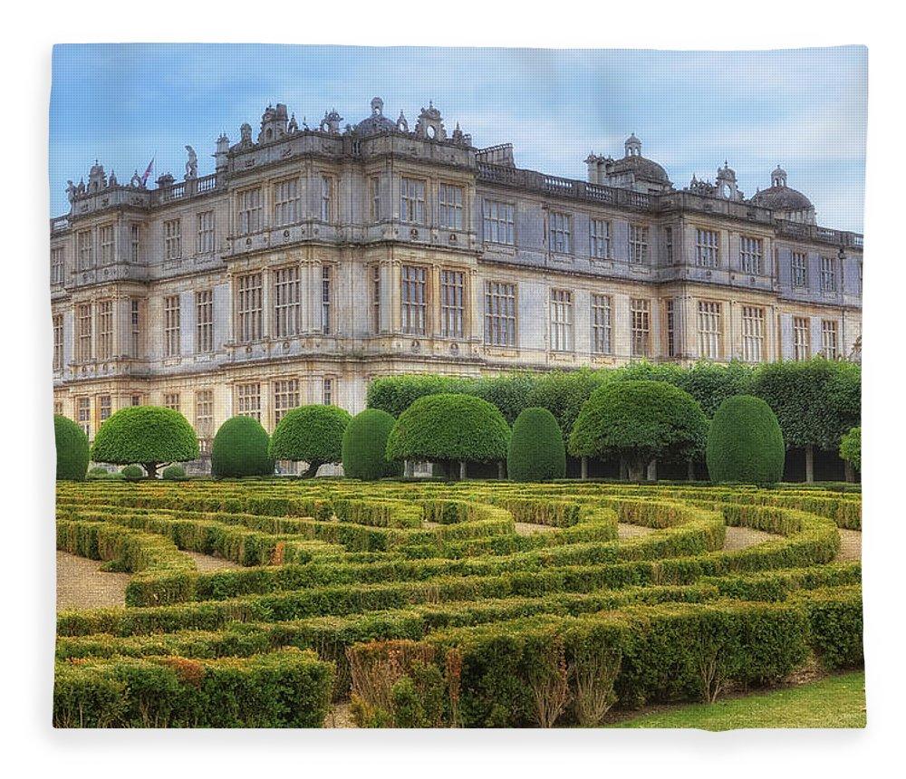 Longleat House Fleece Blanket featuring the photograph Longleat House - Wiltshire by Joana Kruse