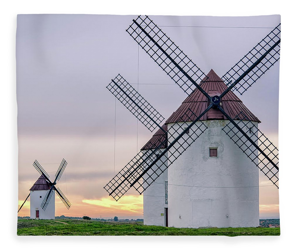 Environmental Conservation Fleece Blanket featuring the photograph Los Gigantes Del Quijote by Eddy Photo