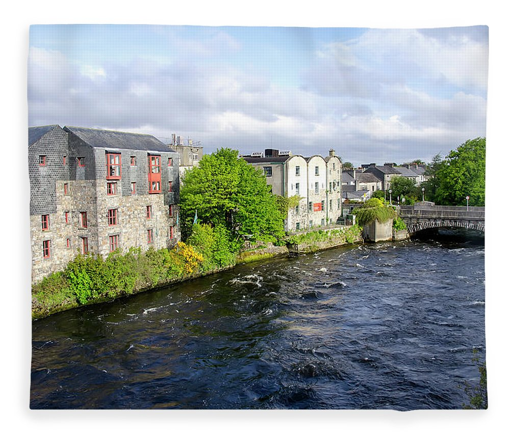 Tranquility Fleece Blanket featuring the photograph Lough Corrib Galway City Ireland by M Timothy O'keefe
