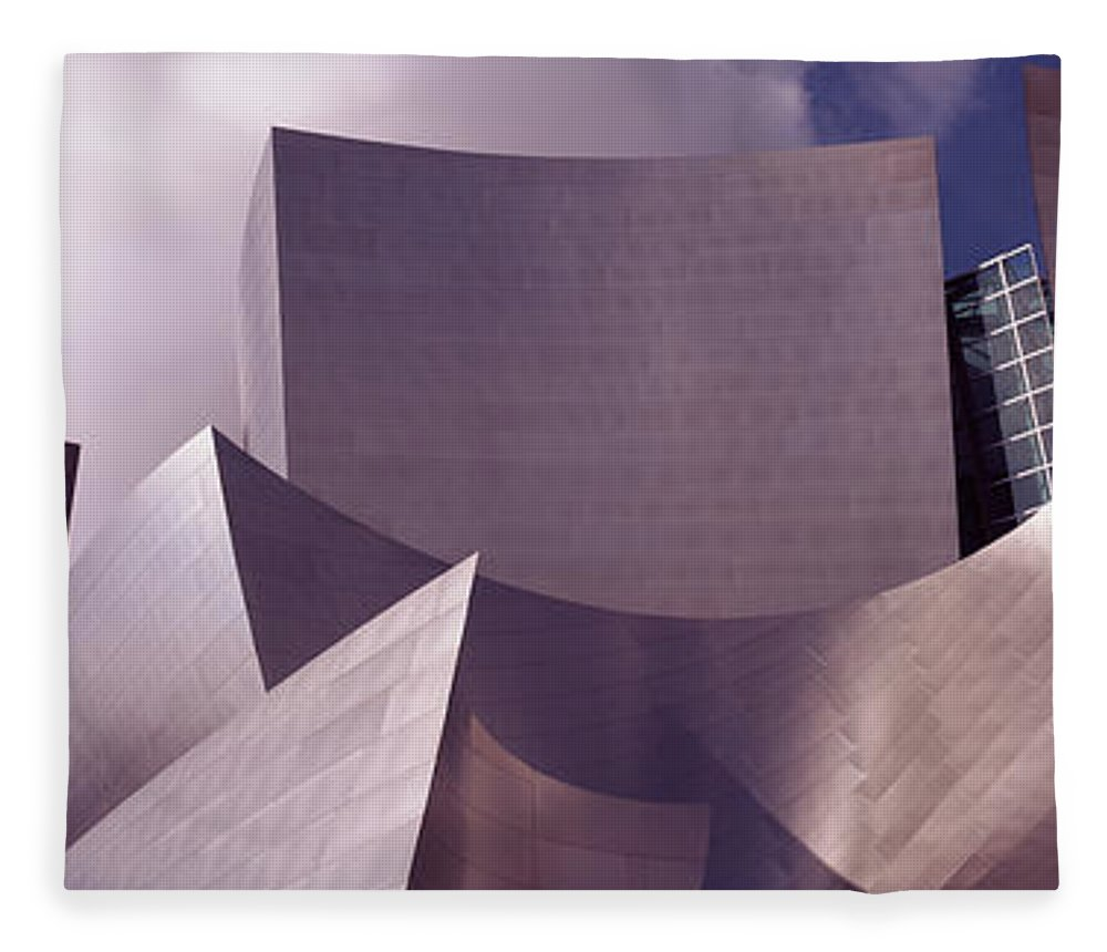 Photography Fleece Blanket featuring the photograph Low Angle View Of A Concert Hall, Walt by Panoramic Images