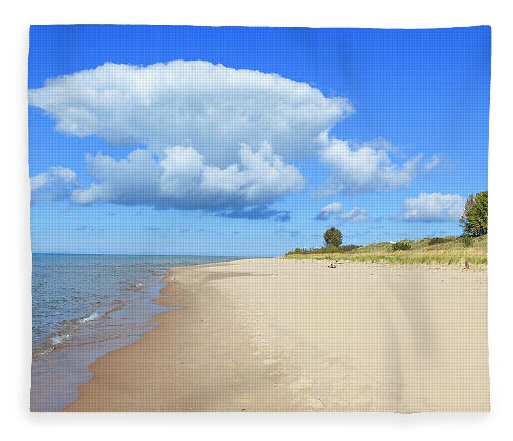 Lake Michigan Fleece Blanket featuring the photograph Michigan Lake Shore by Espiegle