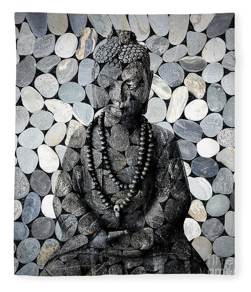 Buddha Fleece Blanket featuring the photograph Mineral Buddha by Delphimages Photo Creations