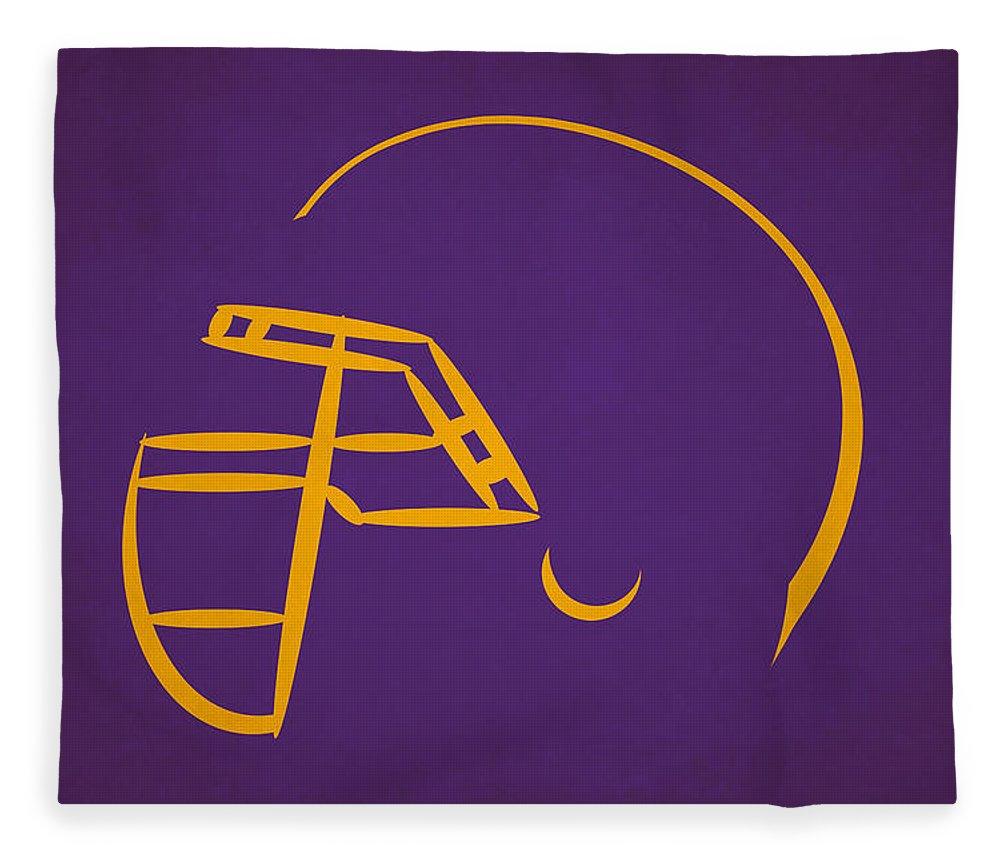 Vikings Fleece Blanket featuring the photograph Minnesota Vikings Helmet by Joe Hamilton