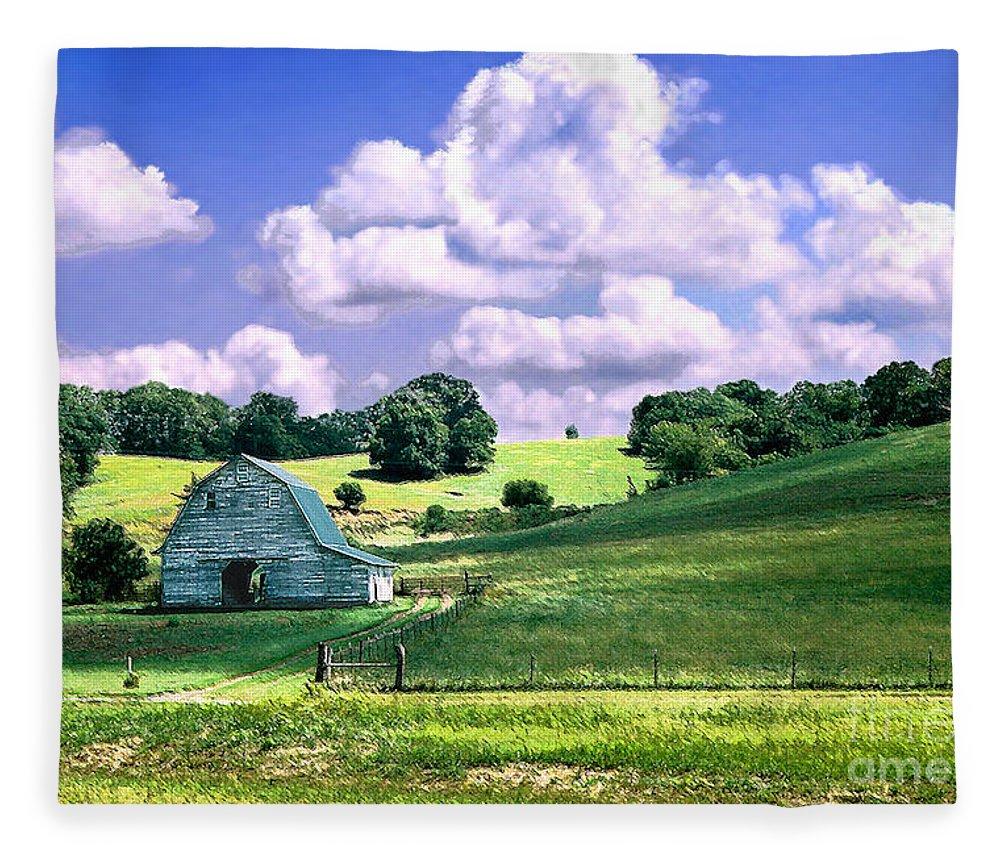 Landscape Fleece Blanket featuring the photograph Missouri River Valley by Steve Karol