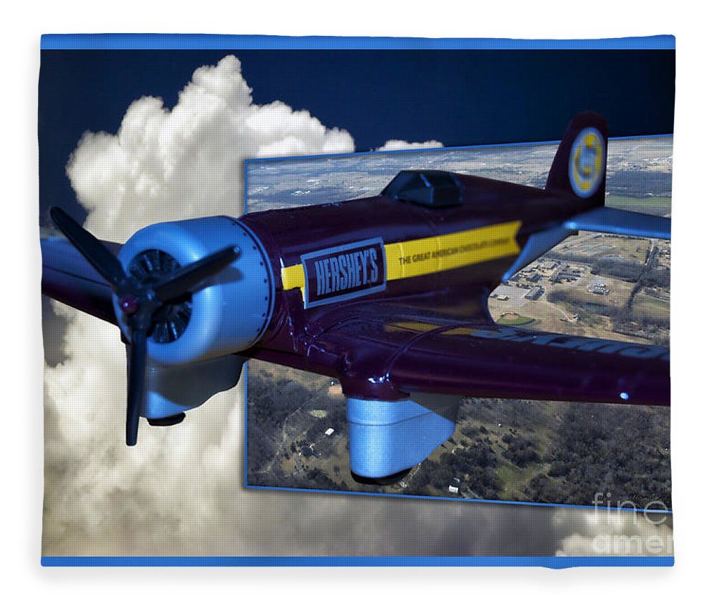 Out Of Bounds Fleece Blanket featuring the photograph Model Planes Hershey 01 by Thomas Woolworth