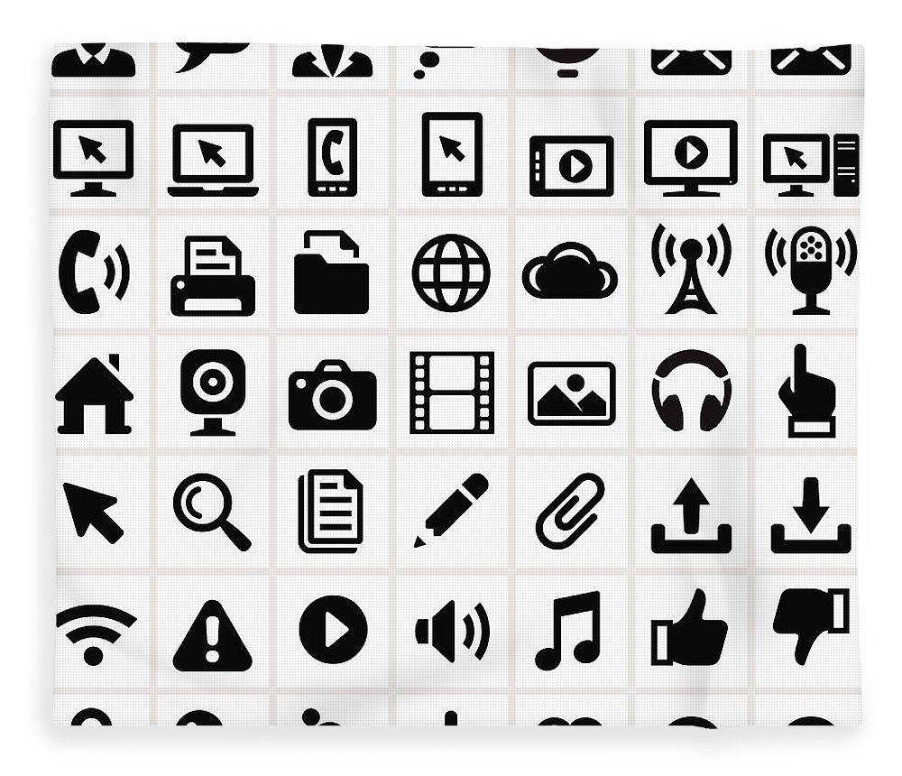 Internet Fleece Blanket featuring the digital art Modern Technology Internet Social by Bubaone