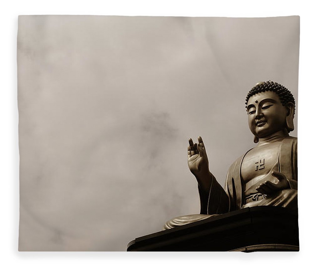 Tranquility Fleece Blanket featuring the photograph Monument by Welcome To Buy My Photos