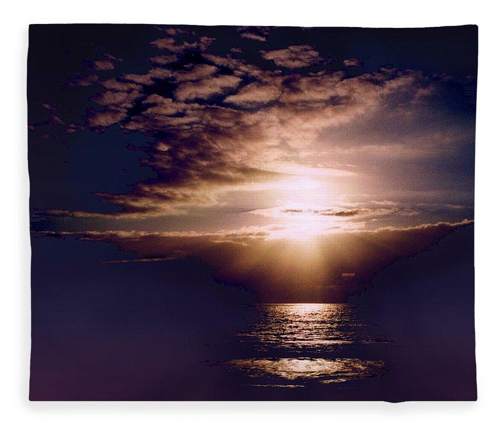 Seascape Fleece Blanket featuring the photograph Mushroom by Steve Karol