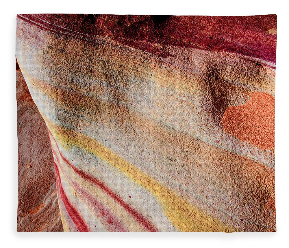Valentine Fleece Blanket featuring the photograph Nature's Valentine by Chad Dutson