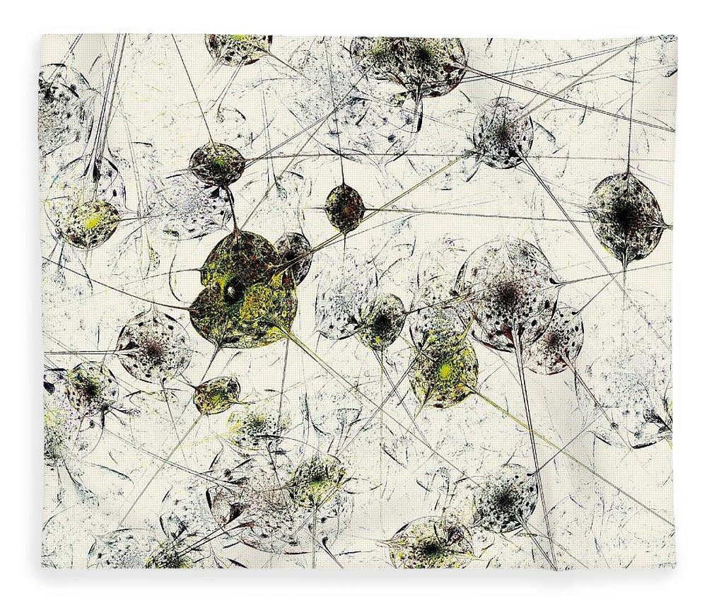 Malakhova Fleece Blanket featuring the digital art Neural Network by Anastasiya Malakhova