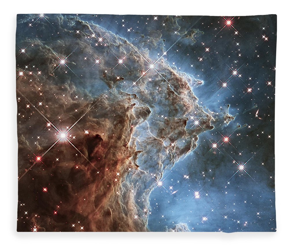 3scape Fleece Blanket featuring the photograph New Hubble Image Of Ngc 2174 by Adam Romanowicz