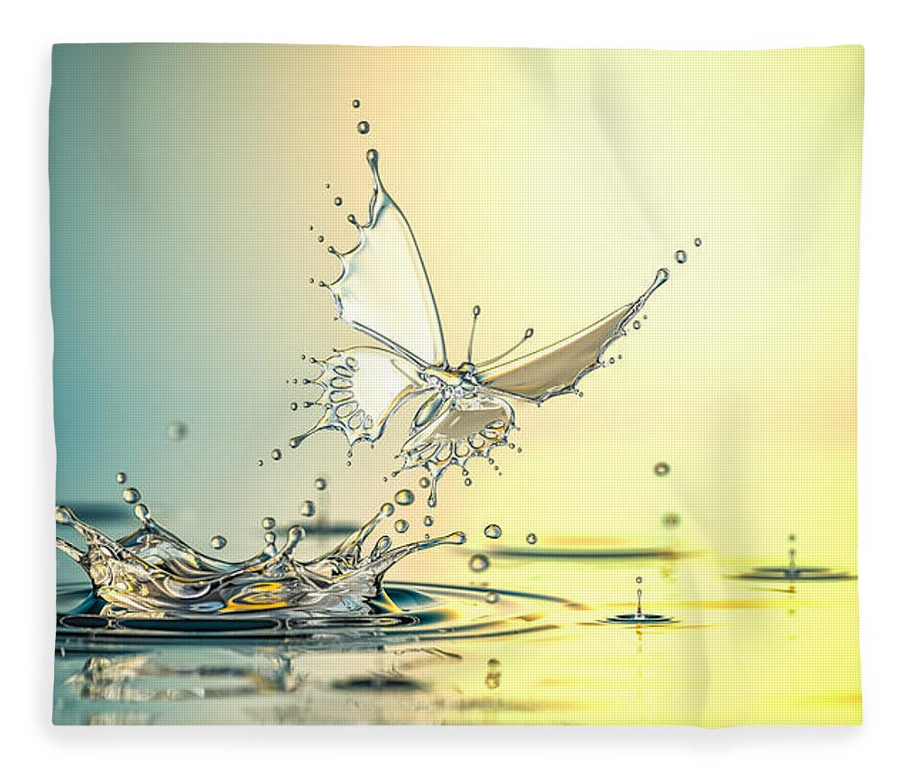 Spray Fleece Blanket featuring the photograph New Life by Blackjack3d