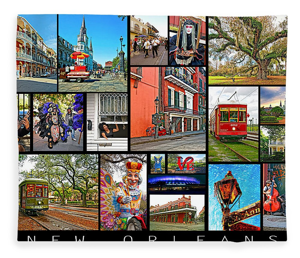 New Orleans Fleece Blanket featuring the photograph New Orleans by Steve Harrington