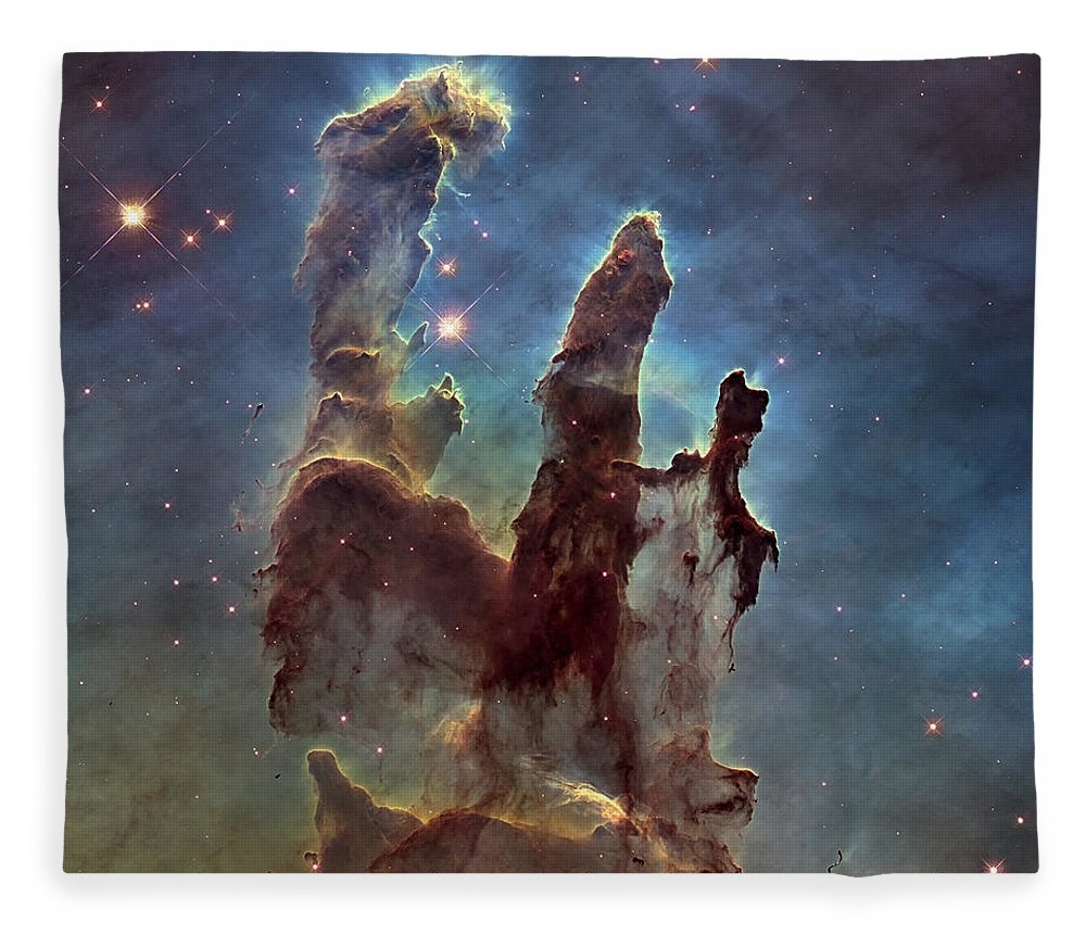 3scape Fleece Blanket featuring the photograph New Pillars Of Creation Hd Square by Adam Romanowicz