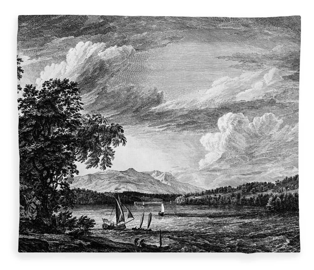 1761 Fleece Blanket featuring the painting New York Poughkeepsie by Granger