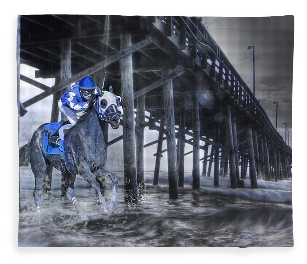 Fantasy Fleece Blanket featuring the photograph Night Run II by Betsy Knapp