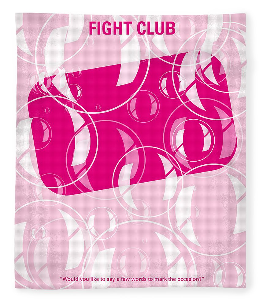 Fight Fleece Blanket featuring the digital art No027 My Fight Club Minimal Movie Poster by Chungkong Art