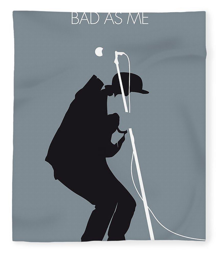 Tom Waits Fleece Blanket featuring the digital art No037 My Tom Waits Minimal Music Poster by Chungkong Art