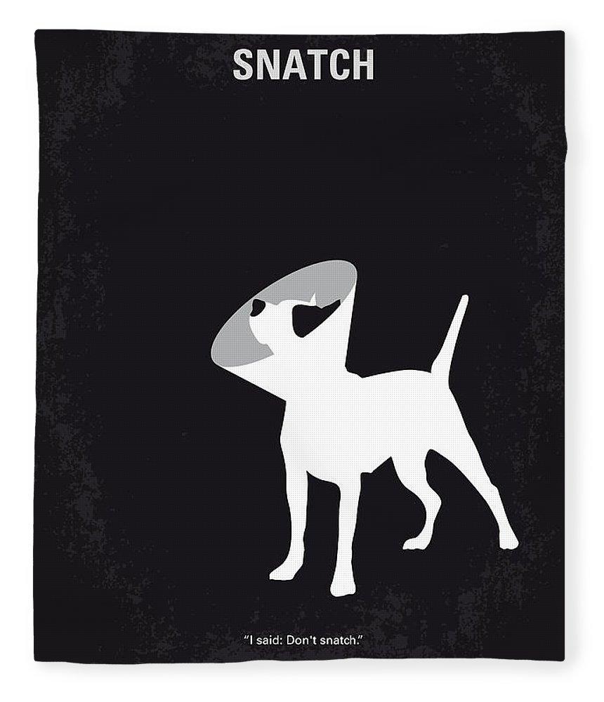 Snatch Fleece Blanket featuring the digital art No079 My Snatch minimal movie poster by Chungkong Art