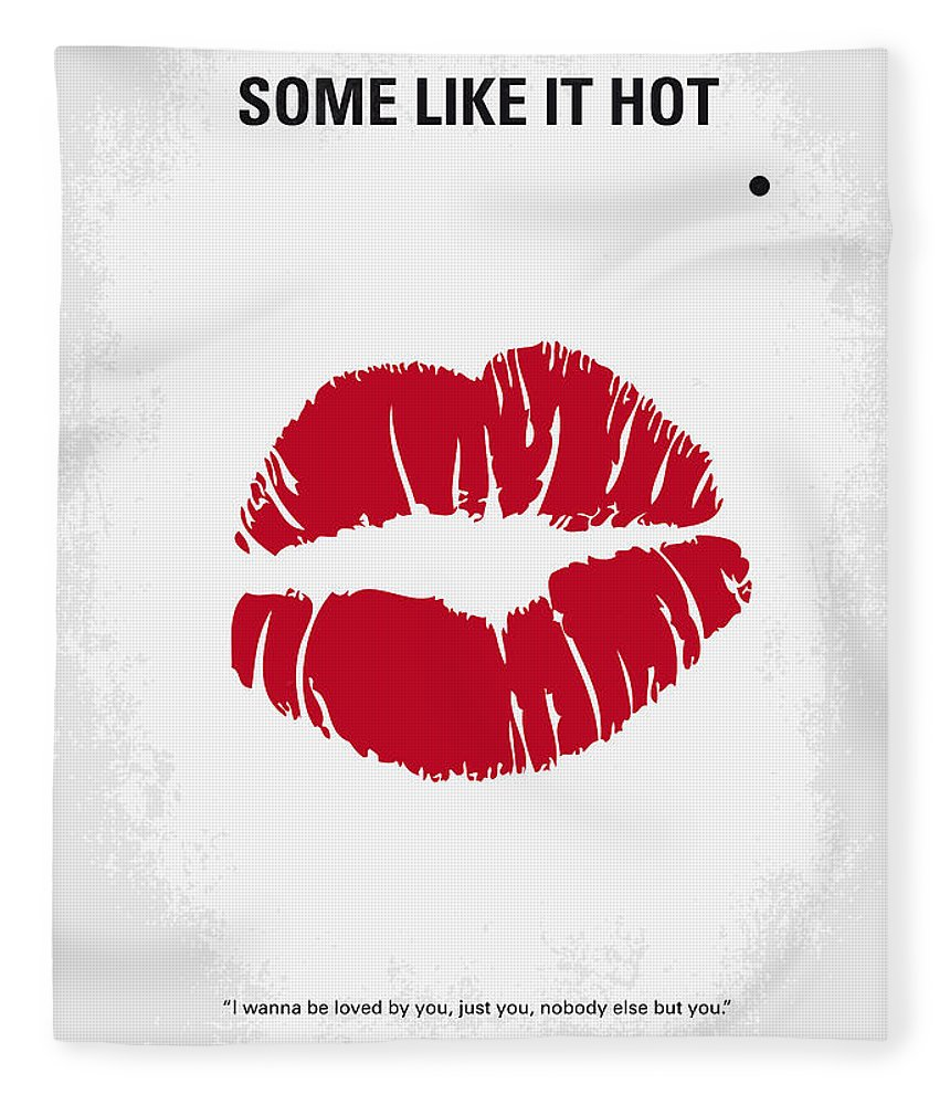 Some Fleece Blanket featuring the digital art No116 My SOME LIKE IT HOT minimal movie poster by Chungkong Art